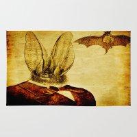 bat man Area & Throw Rugs featuring Bat-Man by Ganech joe