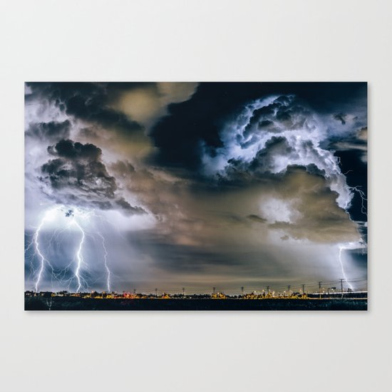 Lightning #clouds Canvas Print