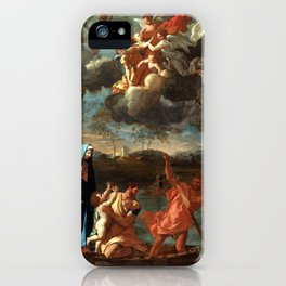 Nicolas Poussin The Return of the Holy Family to Nazareth iPhone Case