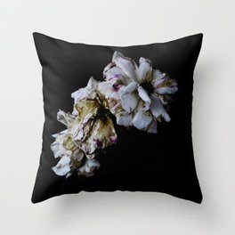 Decaying flowers Throw Pillow
