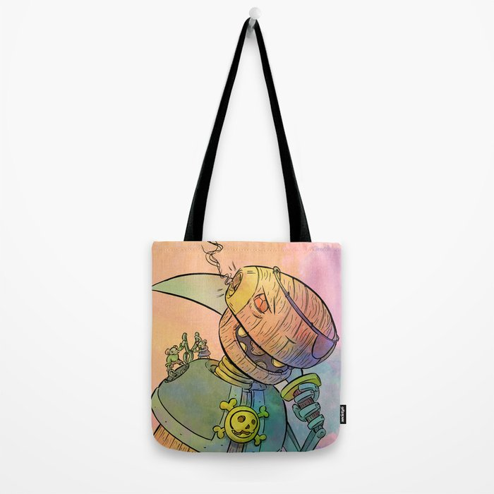 Robot Pirate Tote Bag
