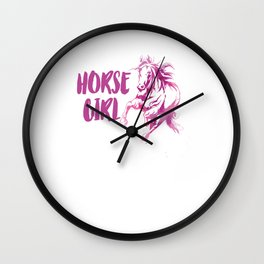 Horse Water Color Horse Girl Just A Girl Who Love Horses Wall Clock