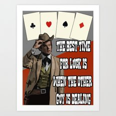 Poker Brothers - Beauregarde Art Print