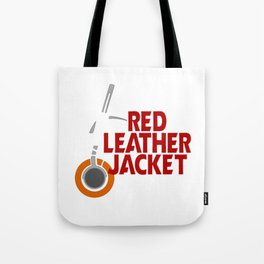Red Leather Jacket Tote Bag