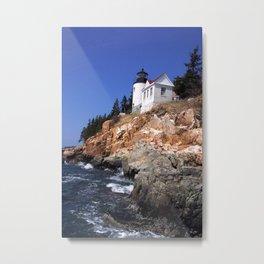 Bass Harbor Light Metal Print