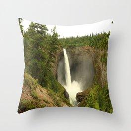 Helmcken Falls Throw Pillow