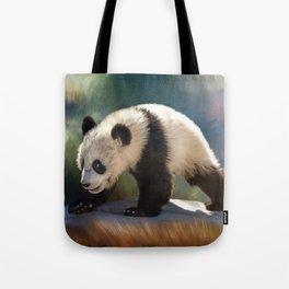 Cute panda bear baby Tote Bag