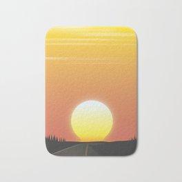 Setting sun Bath Mat
