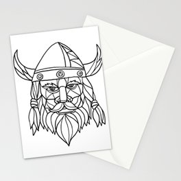 Norseman Black and White Mosaic Stationery Cards