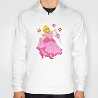 princess peach Hoodies featuring PRINCESS PEACH by Laurdione