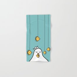 The Seagull and The Origami Fishes Hand & Bath Towel