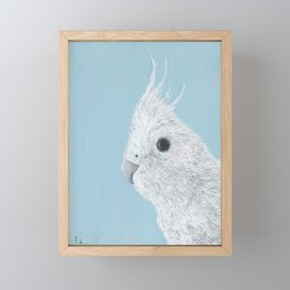 Vivid Acrylic Texture Cockatoo Print Framed Mini Art Print