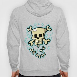 Toxic skull and crossbones blue Hoody
