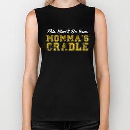 This Won't Be Your Momma's Cradle, Wrestling, Wrestler Gift, Youth Wrestling Biker Tank
