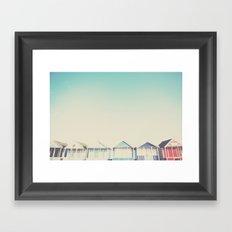 the beach hut ... Framed Art Print