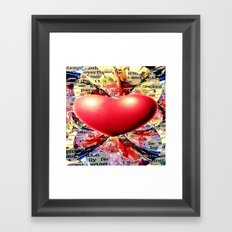 At the Very Heart of It. Framed Art Print