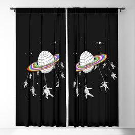Astronaut carousel on the moon Blackout Curtain