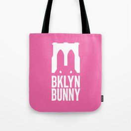 Brooklyn Bunny Logo (Pink) Tote Bag