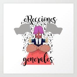eRecciones generales Art Print
