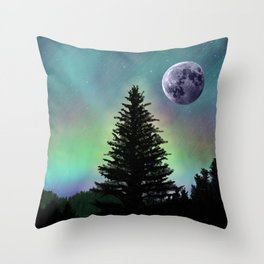 Northern Aurora Throw Pillow