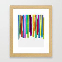 Colorful Stripes 2 Framed Art Print