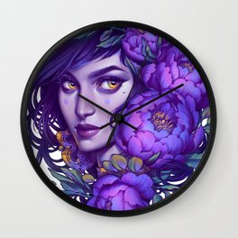 Purple Witch Wall Clock