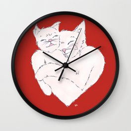 Smitten Kittens Wall Clock