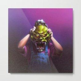 The Haunted Mask Metal Print
