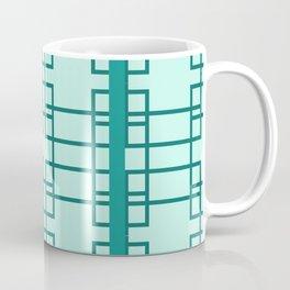 Midcentury Modern Geometric Arctic Blue Coffee Mug