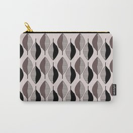 Mauve & black leaves Carry-All Pouch