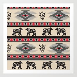 American Native Pattern No. 203 Art Print