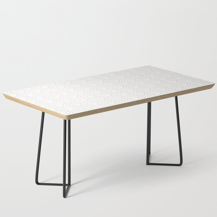 Japanese Coffee Table.Minimalist Japanese Waves Pattern Coffee Table By Misakino