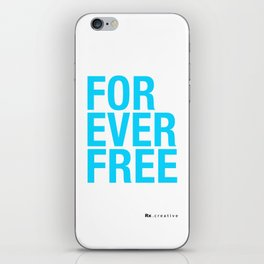 RX - FOREVER FREE - BLUE iPhone Skin