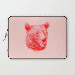 Brown bear is red and pink Laptop Sleeve