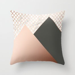 Copper & Marble 06 Throw Pillow
