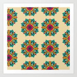Mandala 4.1.2 Cream Art Print