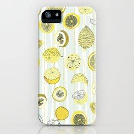 Lemon Stripe Retro iPhone Case