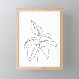 Flora - minimal line drawing Framed Mini Art Print