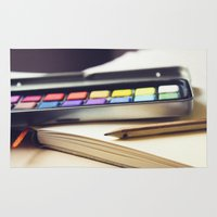 creativity Area & Throw Rugs featuring Creativity by BURNEDINTOMYHE∆RT♥
