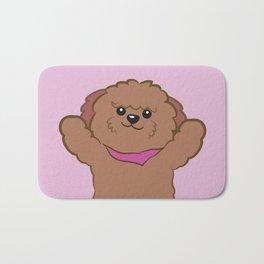 Hug poodle Bath Mat