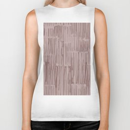 Simply Bamboo Brushstroke Red Earth on Clay Pink Biker Tank