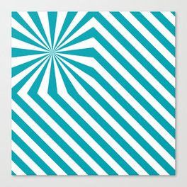 Stripes explosion - Blue Canvas Print