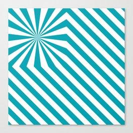 Stripes explosion - Blue Canvas Print