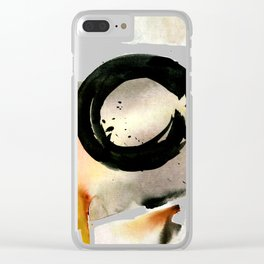 Enso Abstraction No. 105 by Kathy morton Stanion Clear iPhone Case