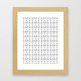 Daisy Love Hearts Peppermint Framed Art Print