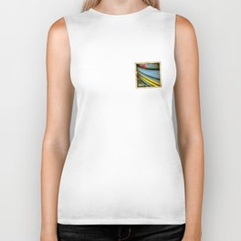 Grunge sticker of Aruba flag Biker Tank