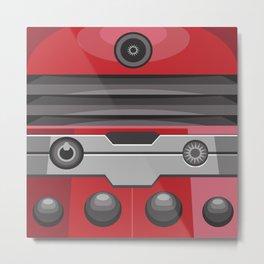 Dalek Red - Doctor Who Metal Print