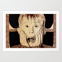 home alone Art Prints featuring Home Alone by DeMoose_Art