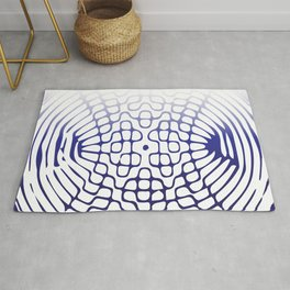 Blue Cymatics Pattern Rug