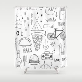 Good Times Shower Curtain